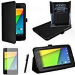 MOFRED® Black New Google Nexus 7 2 II Tablet (Launched July 2013) Case-(Second Updated Version of Case)-MOFRED® Executive Multi Function Standby Case for the Google Nexus 7 II-2nd Generation Tablet 16GB or 32GB eMMC ,Qualcomm Snapdragon S4 1.5GHz Process