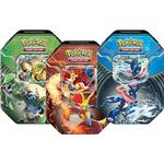 Pokémon Pokemon chesnaught-ex, greninja-ex & delphox-ex tin box