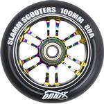 Slamm Orbit 100mm Sparkcykel Hjul Komplett (100mm - Neochrome)