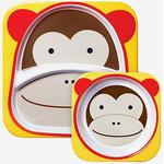 Skip Hop Zoo Melamine Plate & Bowl Set Marshall Monkey