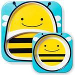 Skip Hop Zoo Melamine Plate & Bowl Set Brooklyn Bee