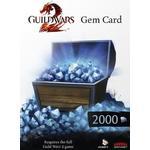NCsoft Guild Wars 2 2000 Gems Card