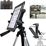 "by ChargerCity ChargerCity Exclusive Vibration Free 7"" to 12"" Tablet Tripod MonoPod Video Camera Mount with 1/4-20 Thread Adapter & 360° Swivel Adjust Holder for Apple iPad Air Mini 2 3 4 Samsung Galaxy Tab Note Pro Google Nexus 7 8 9 10 12 Asus Transformer Tosibe Exci"