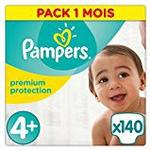 Pampers Premium Protection, 140 Nappies, 9-18 kg - Size 4+
