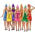 Fancy Dress - Group Crayon Costume Combination