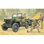 WITTMAX 1:35 Willys MB Jeep with Trailer