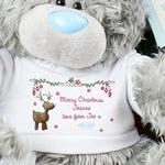 Personalised Me To You Bear - Reindeer T-shirt