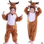 Kodräkt för barn, brun - XL