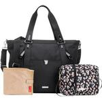 Storksak Cleo + Mini-Fix Changing Bag Black