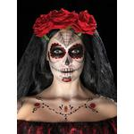 Smiffys Day of the Dead Face Tattoo Transfers Kit 41570