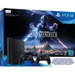 Sony PlayStation 4 Slim 1TB - Black Edition - Star Wars: Battlefront II - 2x DualShock 4 V2