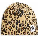 Accessoarer Accessoarer Mini Rodini Basic Leopard Beanie - Beige