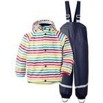 Baby Barnkläder Didriksons Slaskeman Printed Kids Set - Rainbow Simple Stripe (502369-947)