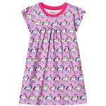 Barnkläder Hatley Rainbow Unicorns Nattlinne - Lila (S19RUK1192)