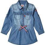 Skjortklänning Skjortklänning Levi's Shirt Dress with Tie Waist - Blue Denim (320884)