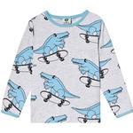Topp Topp Småfolk T-shirt Crocodile - Grey Mix (91-0009)