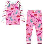 Barnkläder Hatley Darling Dinos Raglan Pajama Set - Pink (S19PDK1269)