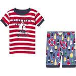 Barnkläder Hatley Distressed Buoys Appliqué Short Pajama Set - Red (S19DBK205)