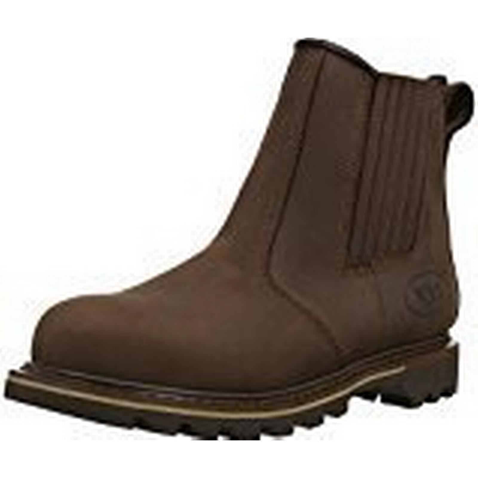 V12 Safety Rawhide, Full Grain Leather Safety V12 Dealer Boot, Size 08, Brown 6bbdca