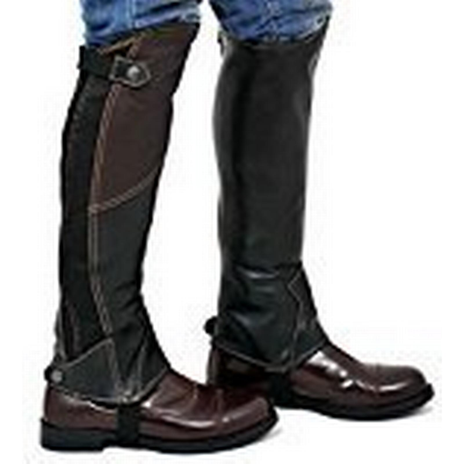 Riders Trend x 10024950 (XL, Calf (16-17) x Trend Height-16.50 Inch) - Women's 2 Tone Leather Gaiter - Black/Brown 819376