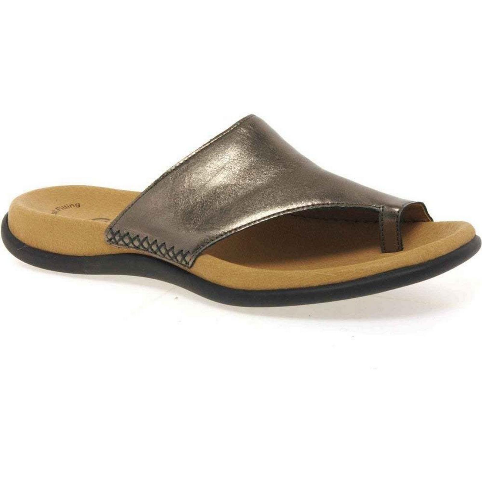 Gabor Lanzarote Toe Antique Loop Womens Mules Colour: Antique Toe Silver, Size: 6 442f13