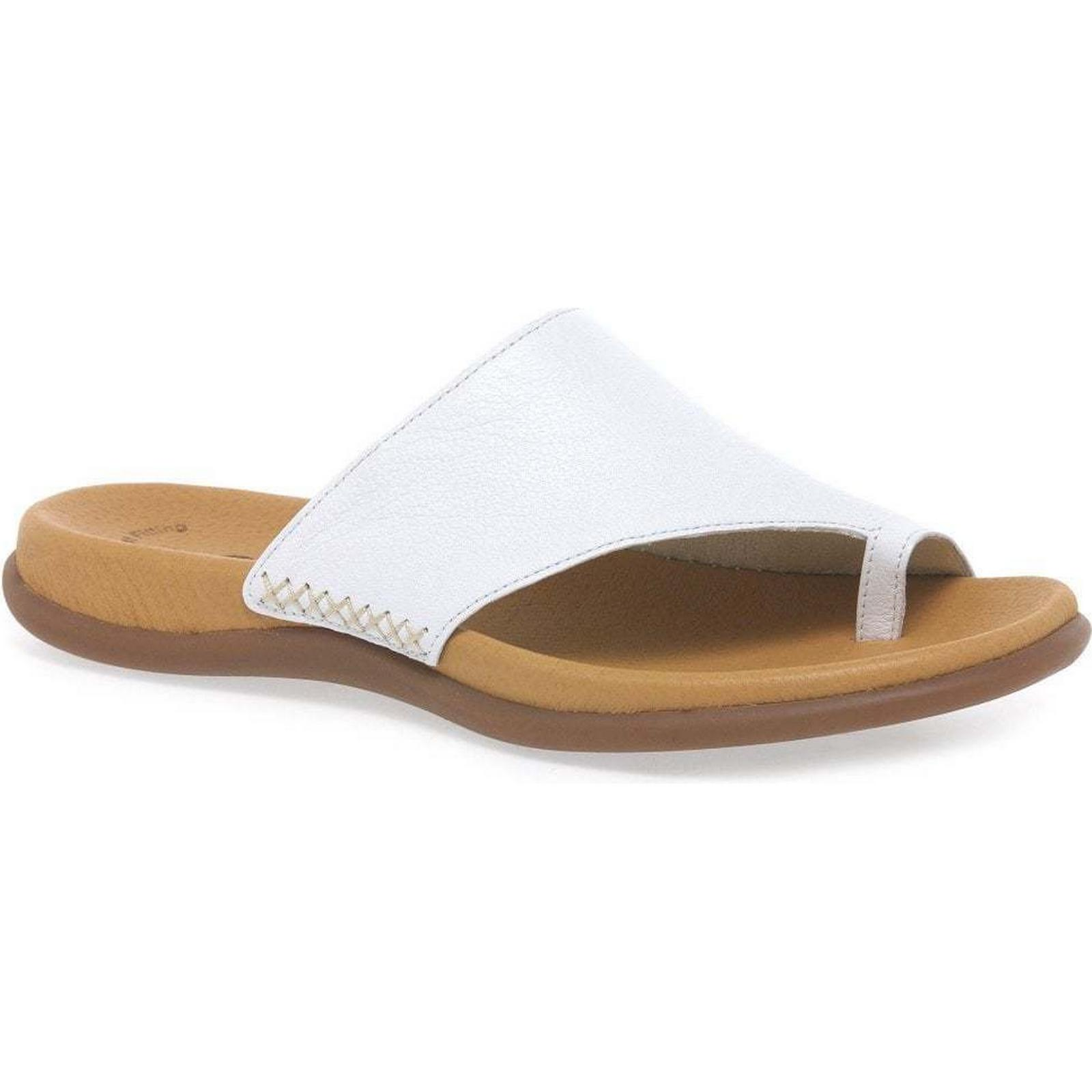 Gabor Lanzarote Toe Loop Size: Womens Mules Colour: White, Size: Loop 6.5 / 40 7b7155