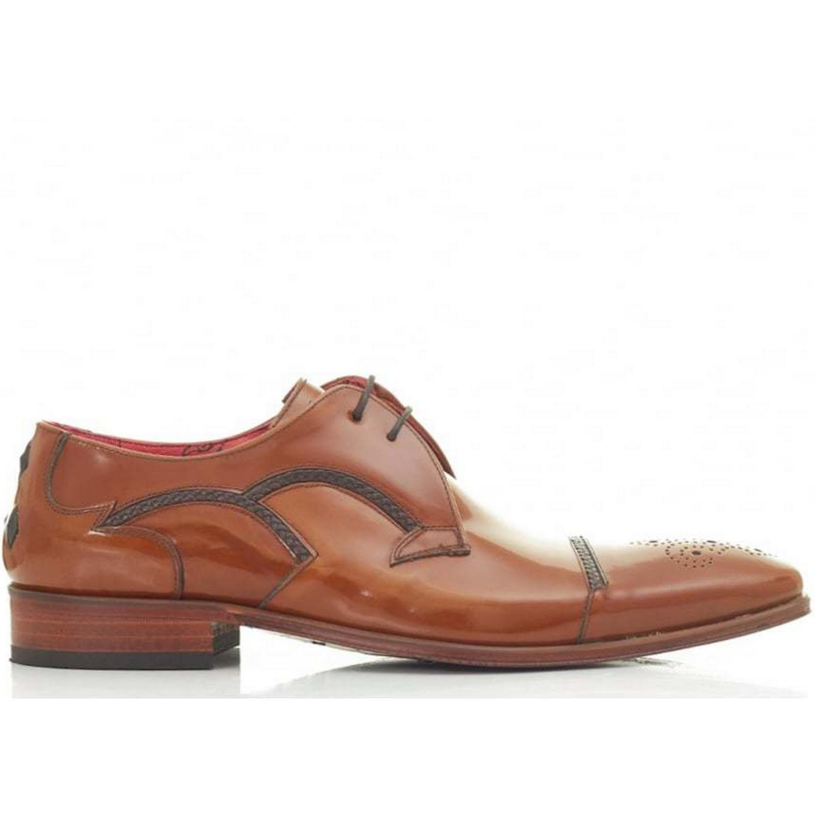 Jeffery West Colour: Museline Toecap Gibson Leather Shoes Colour: West TAN, Size: 8 da4a99