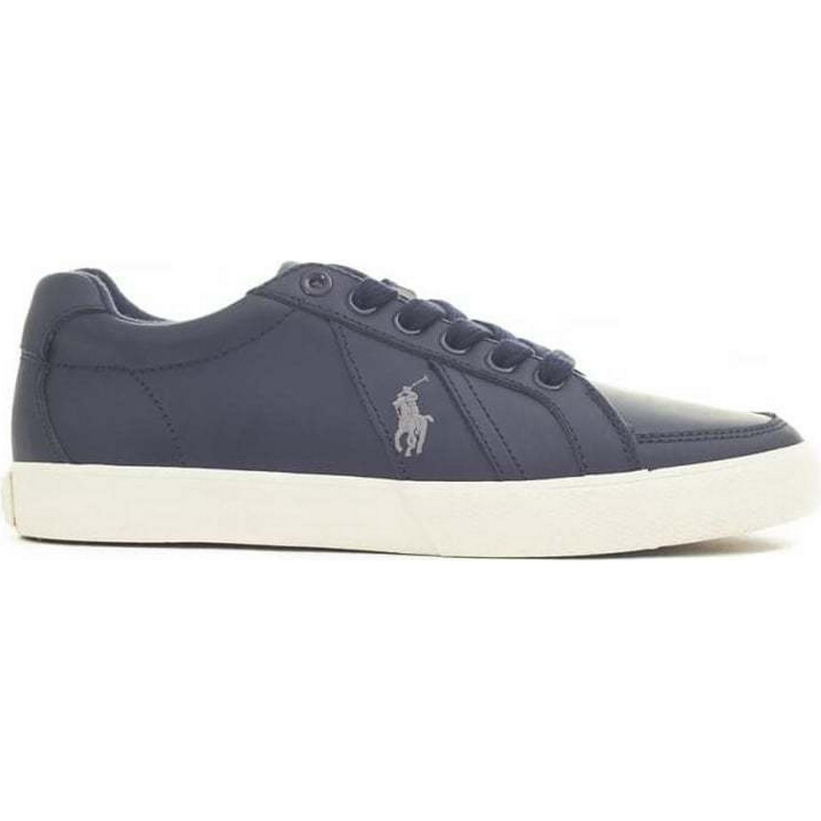 Polo Trainers Ralph Lauren Hugh Leather Trainers Polo Colour: BLACK, Size: 6 ac6ee8
