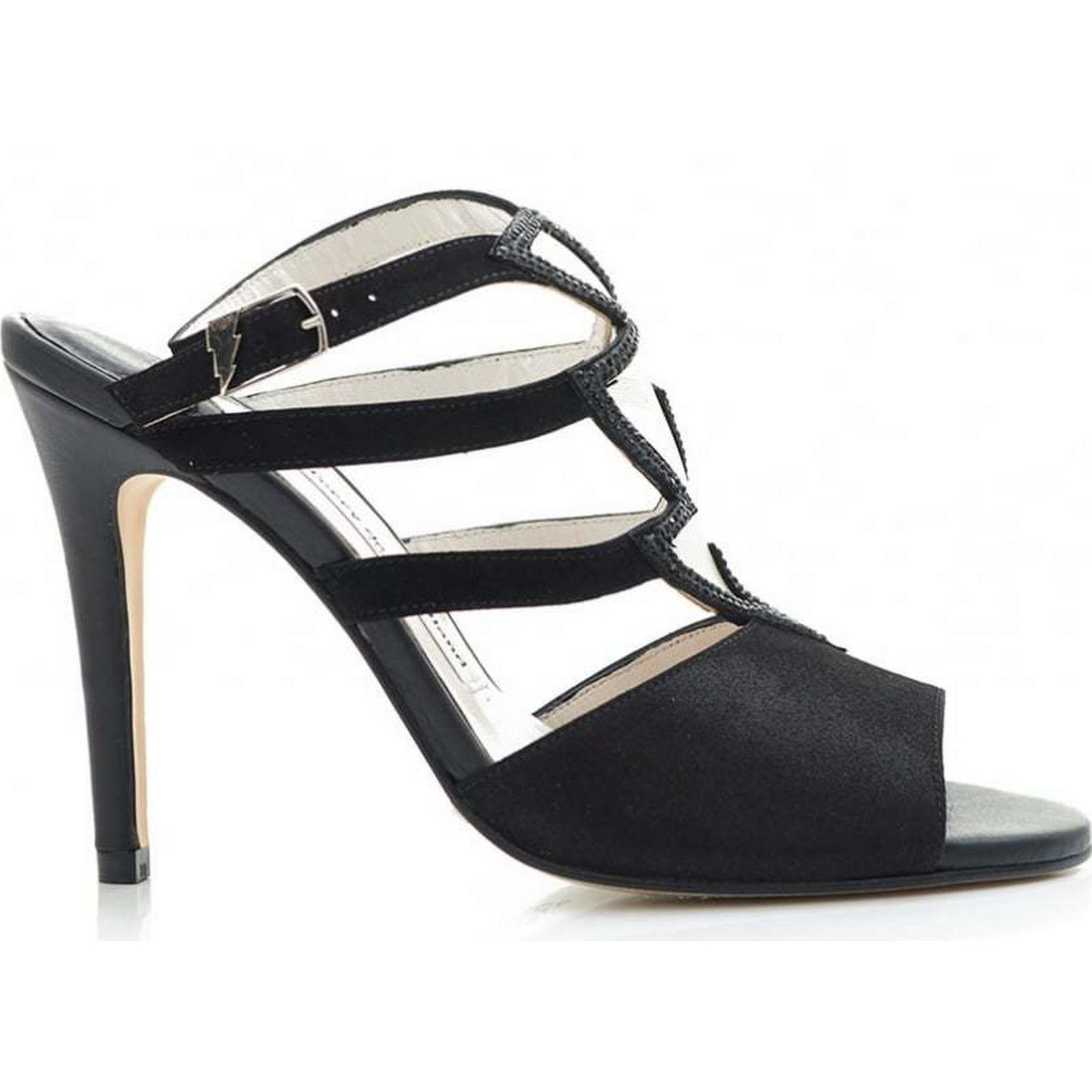 Terry De Havilland Sequined Zig Zag BLACK, Sling Back Shoes Colour: BLACK, Zag Si dbd58f