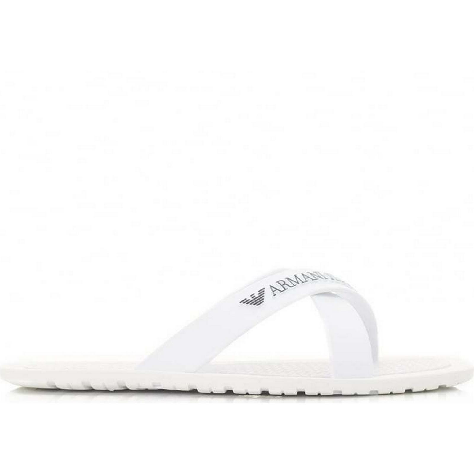 Armani Footwear Cross Over Size: Flip Flops Colour: BLACK, Size: Over 9 e52011