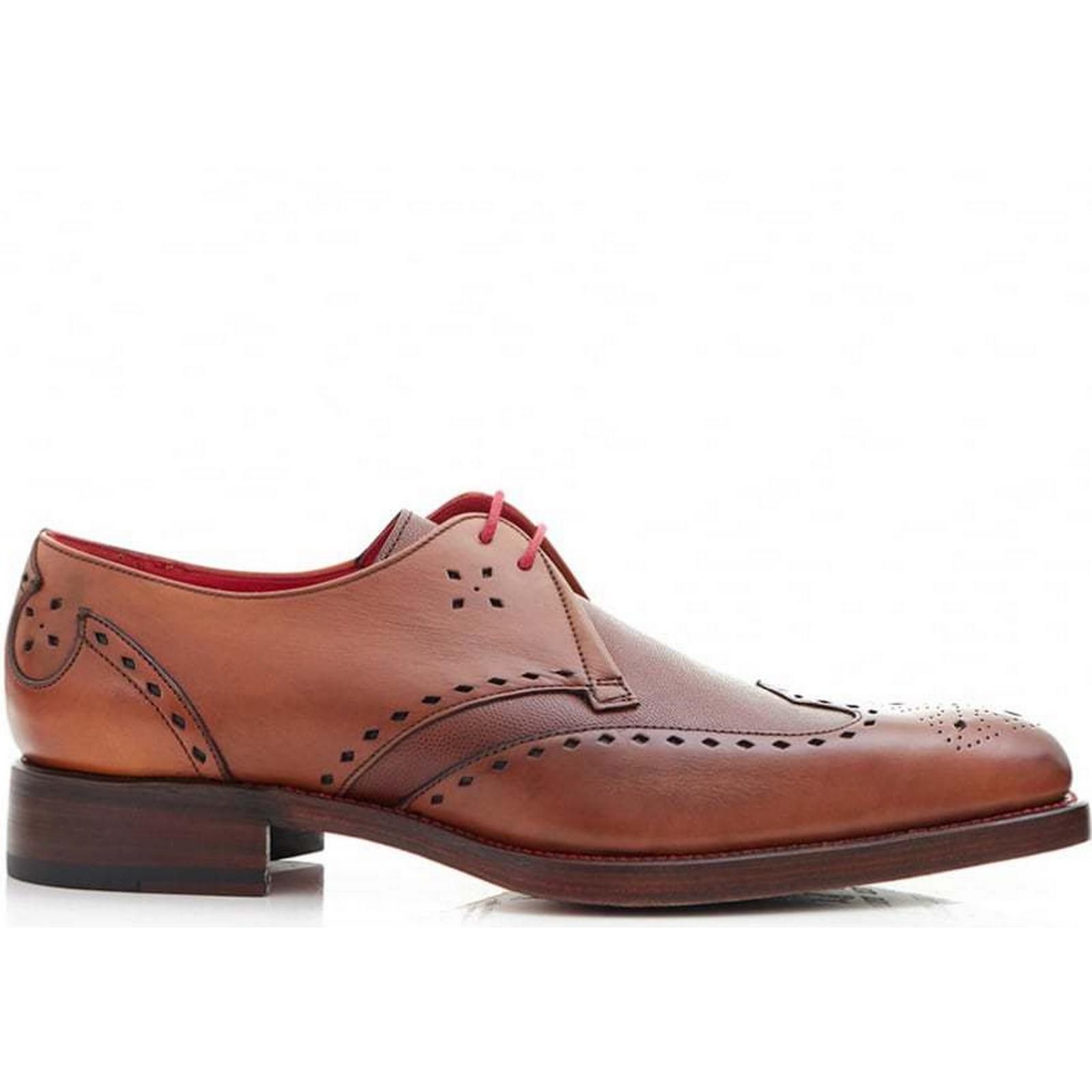 Jeffery Shoes West Mainline Leather Wingtip Shoes Jeffery Colour: MAHOGANY, Size: 9 54aff5