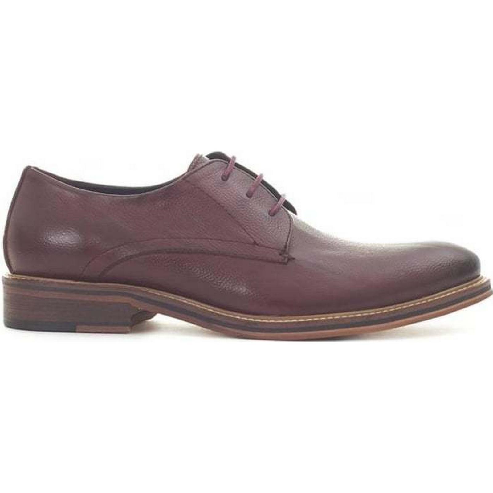 Paolo Vandini Grained Derby Size: Shoes Colour: BURGUNDY, Size: Derby 7 8631df