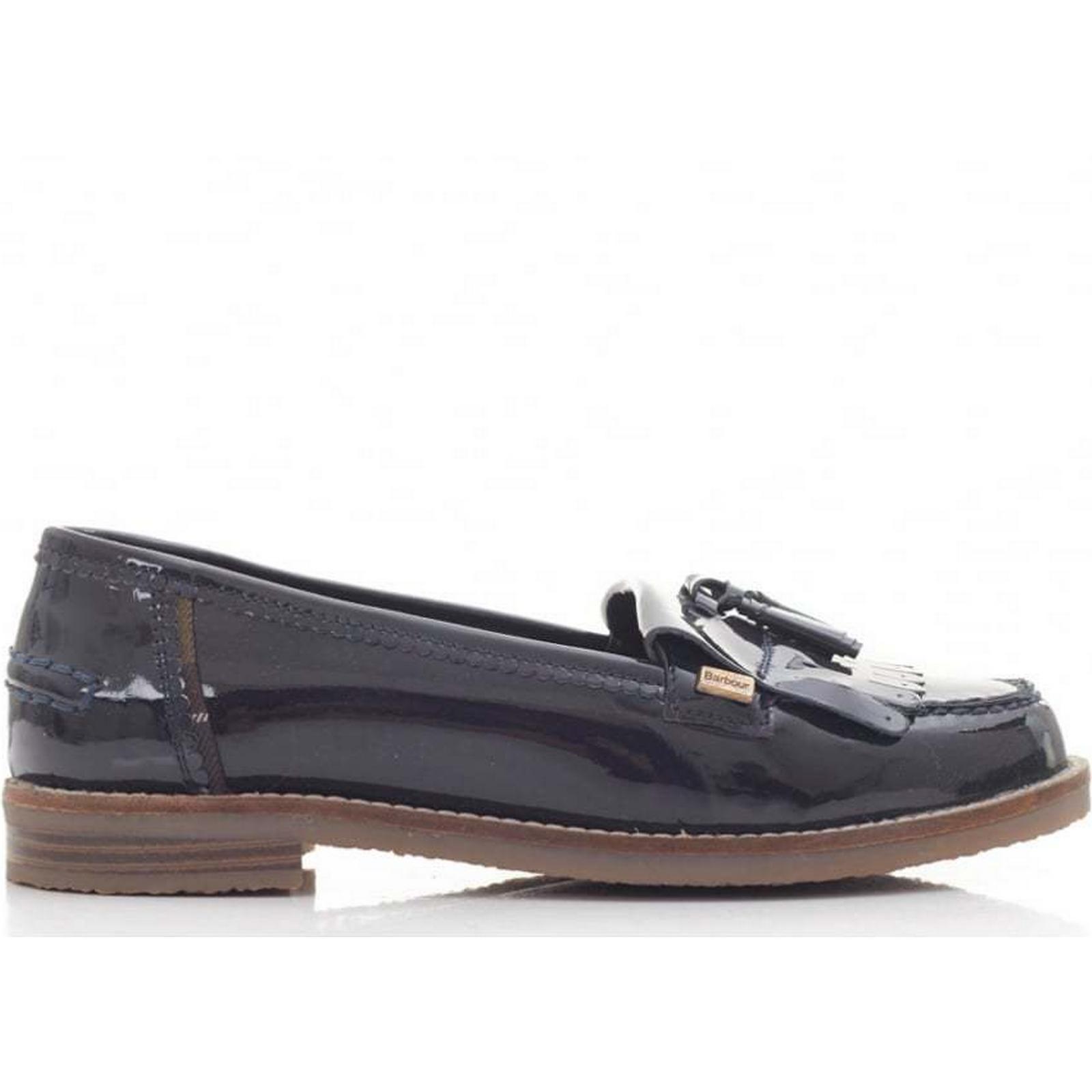 Barbour Naomi Patent Loafers Colour: 6 NAVY, Size: 6 Colour: 1219ff