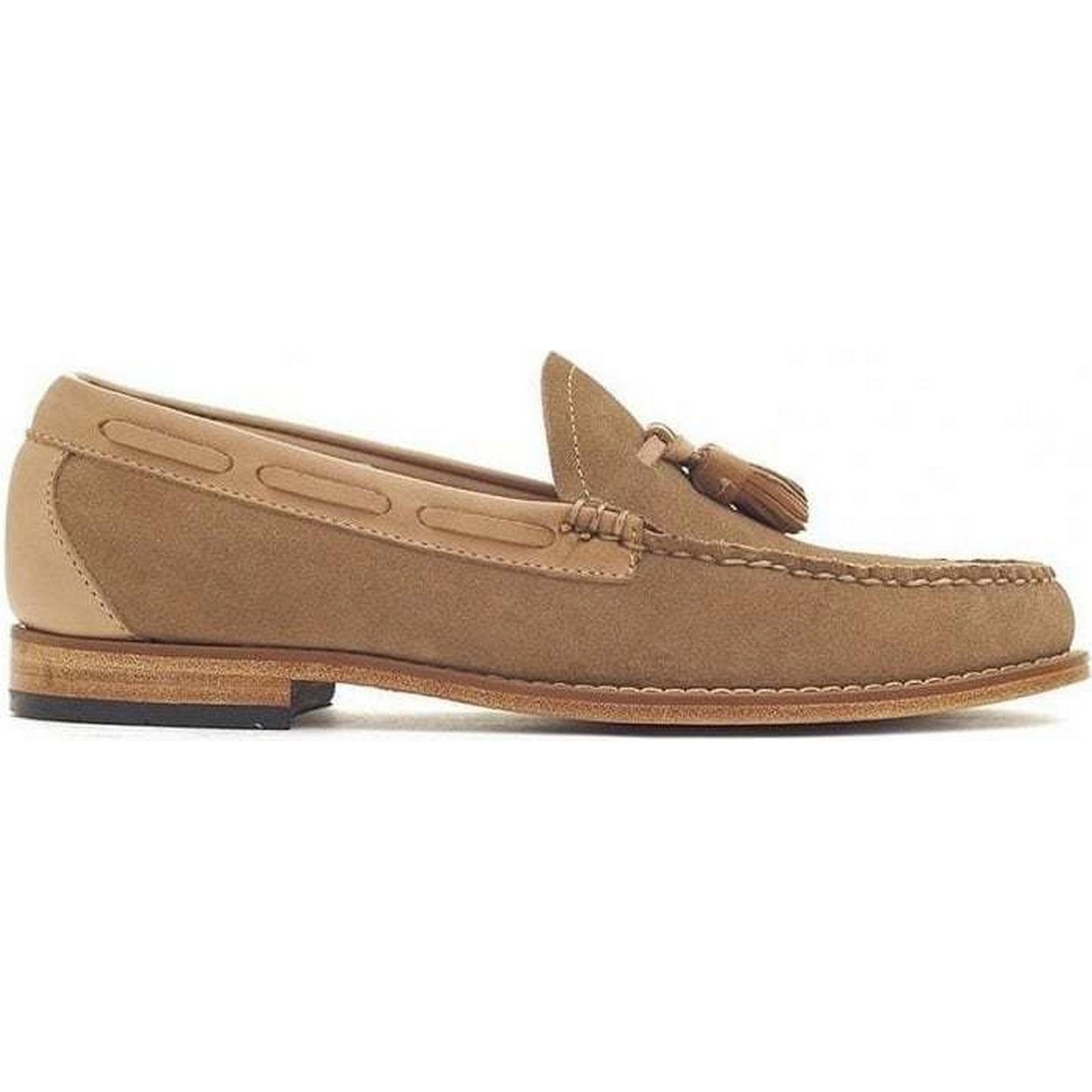 Bass Weejuns Loafers Larkin Reverso Suede Tassle Loafers Weejuns Colour: Earth, Size: dd8307