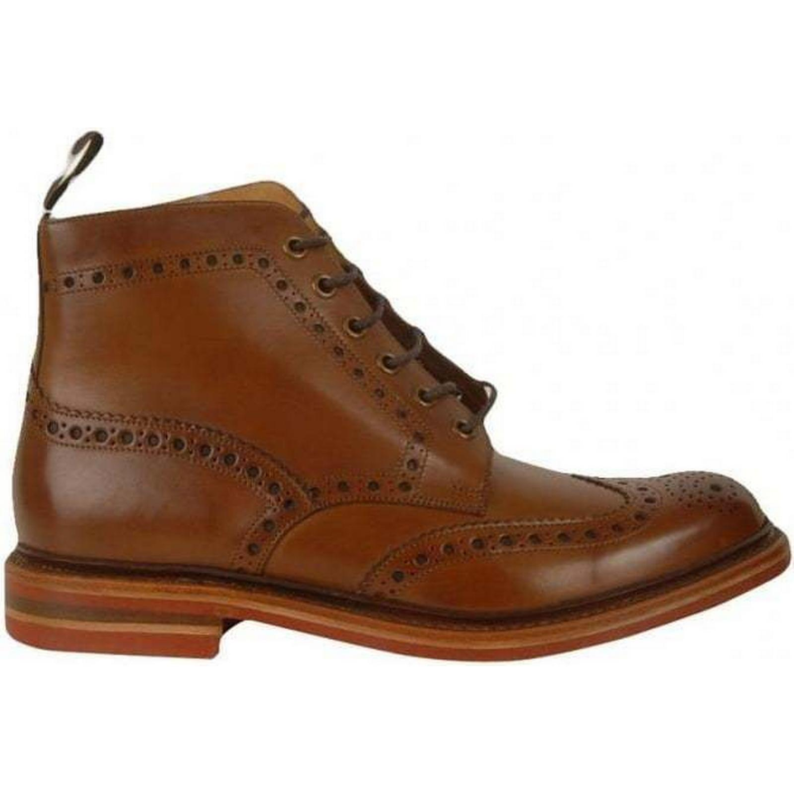 Loake Burnished Size: Brogues Boots Colour: BROWN, Size: Burnished 11 54d387