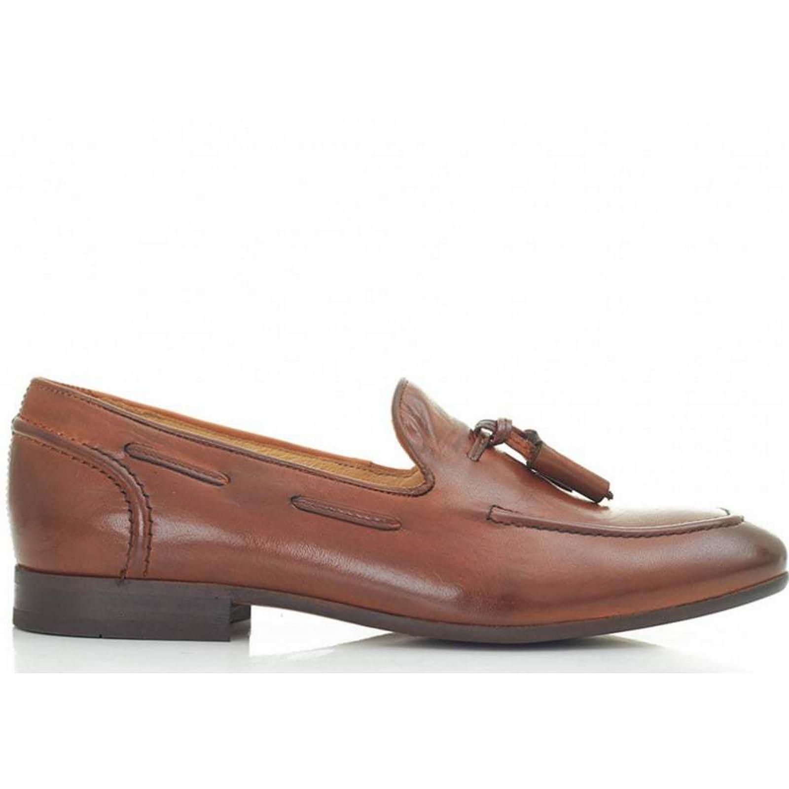 H By Hudson Pierre Tassel Loafers 7 Colour: Calf Tan, Size: 7 Loafers 558549