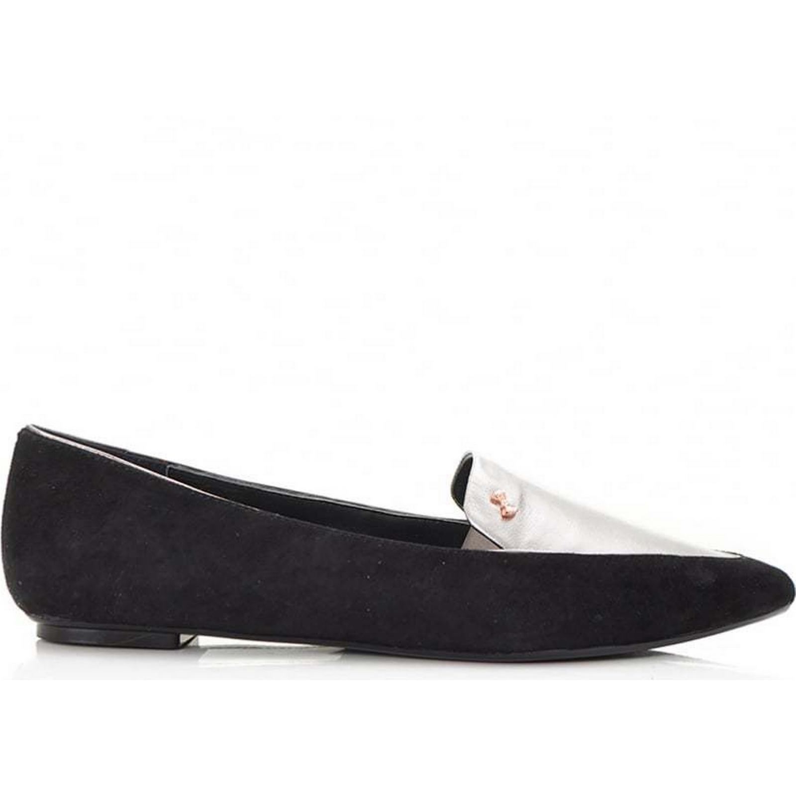 Ted Baker Pointed Suede BLACK, And Metallic Pumps Colour: BLACK, Suede Size: 5 8dd9c6