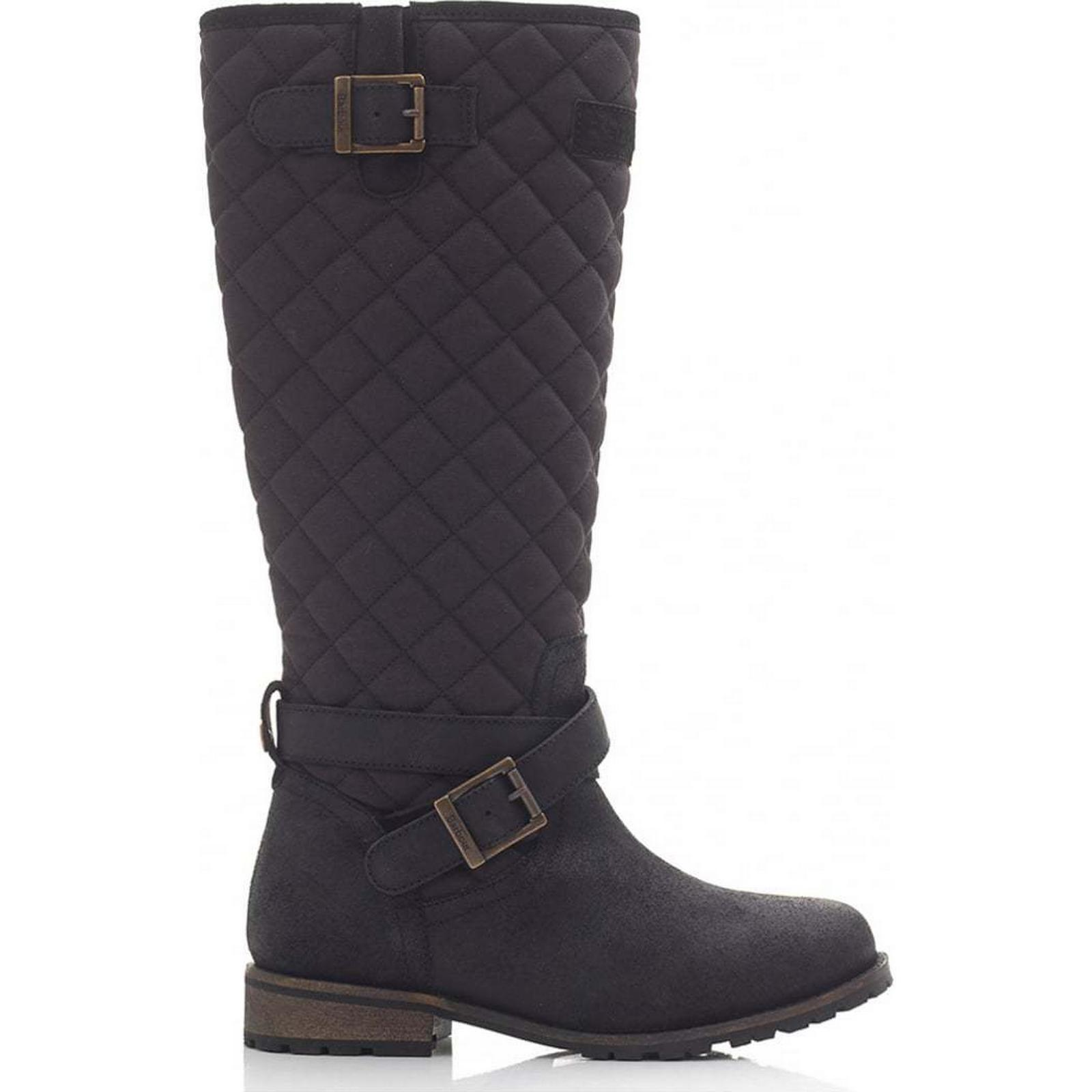 Barbour Holford Knee High Size: Waxy Suede Boots Colour: BLACK, Size: High 7 49d1b7