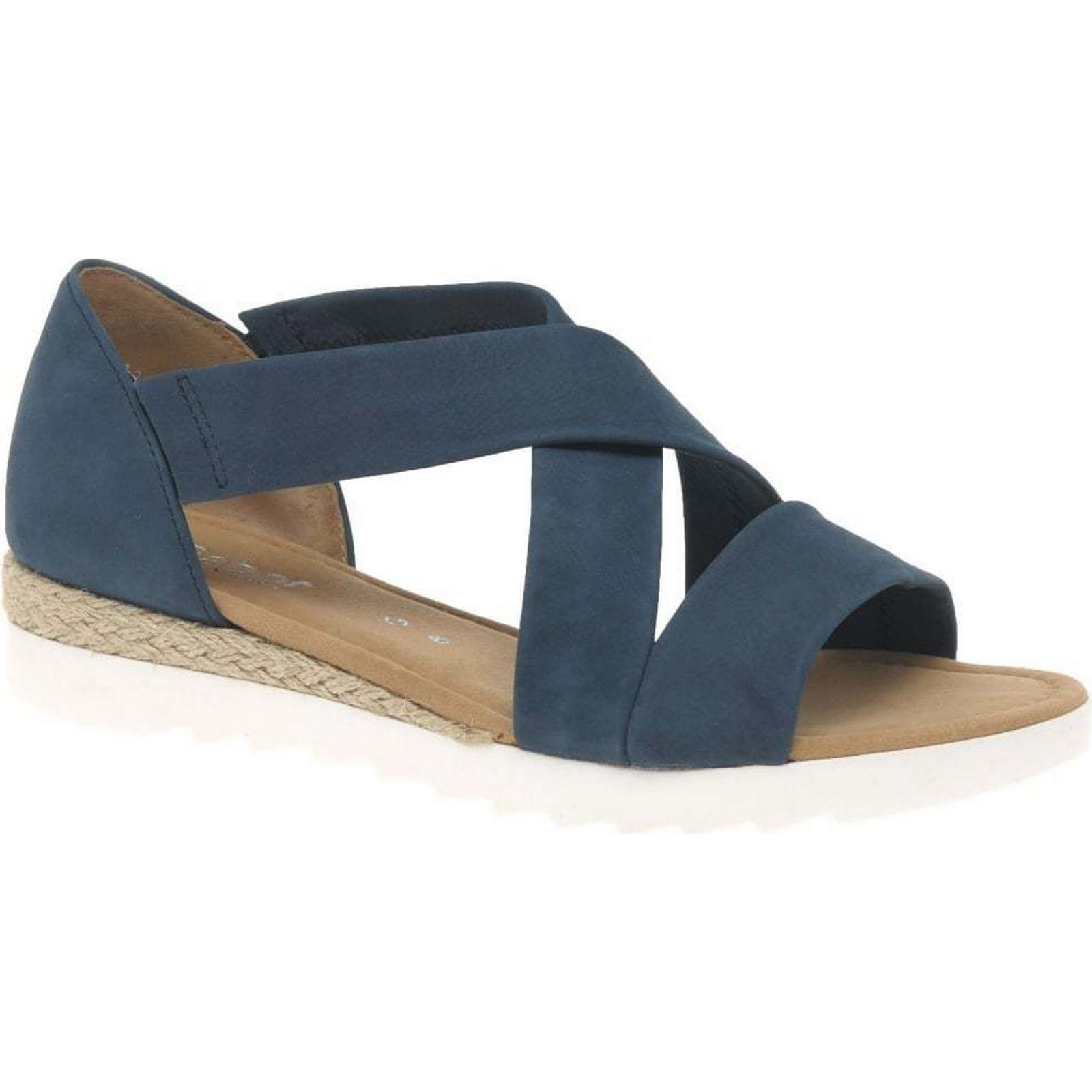 Gabor Promise Navy Womens Sandals Colour: Navy Promise Nubuck, Size: 7.5 4811dd