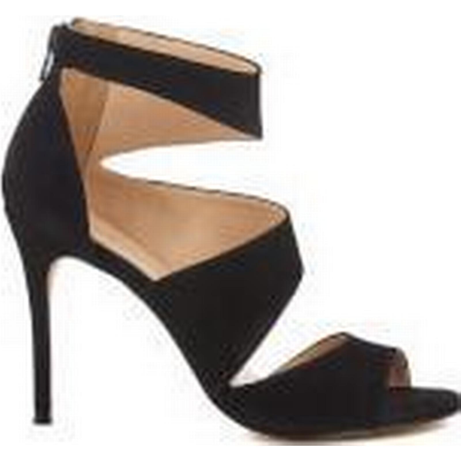 carvela femmes & #  ; s gene - daim de triple sangle incliné sandales - gene Noir  - royaume - uni  - noir 6443b7