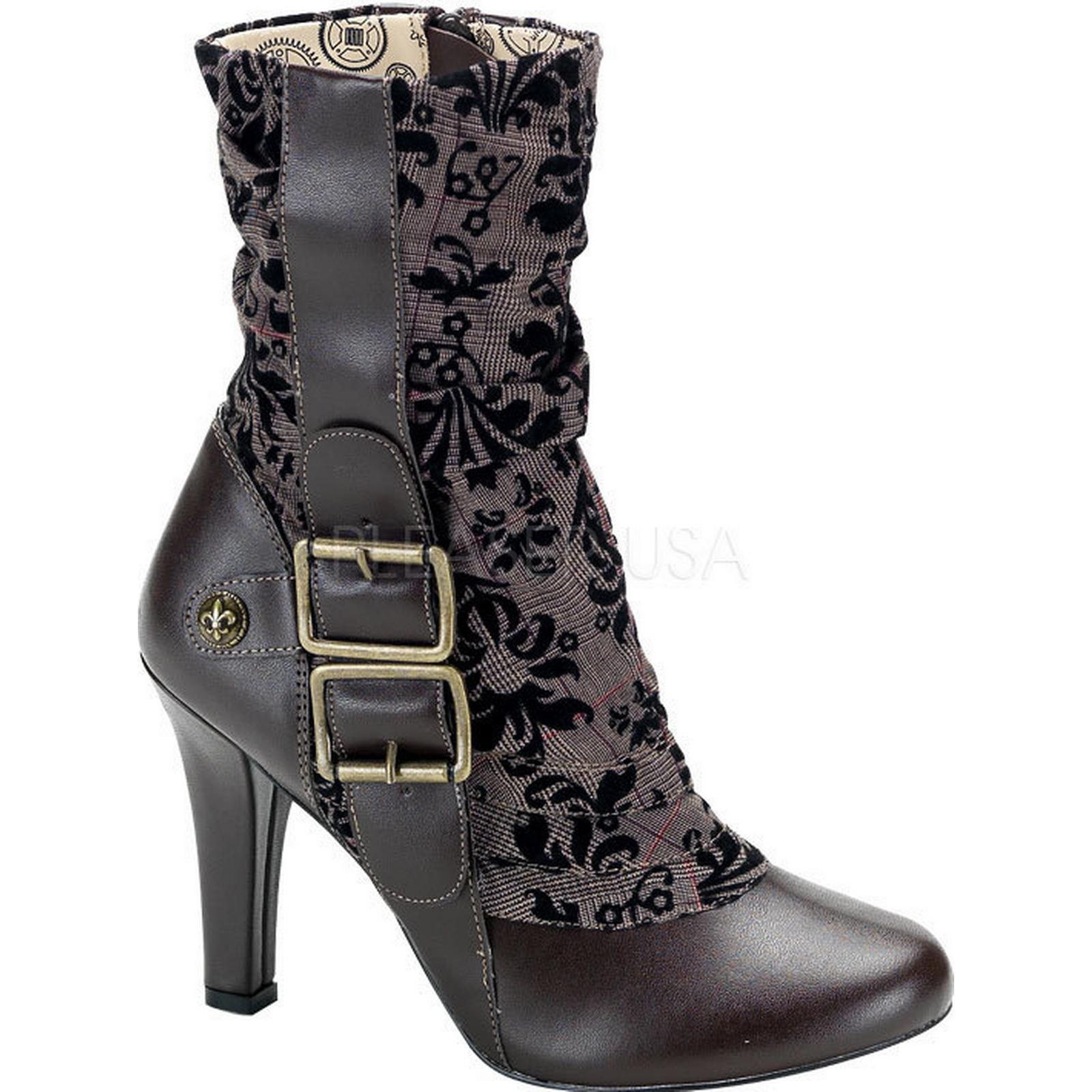 Costume-Ladies Steampunk Calf - Boots - Calf UK-9, EURO-42, US-12 1c47b8