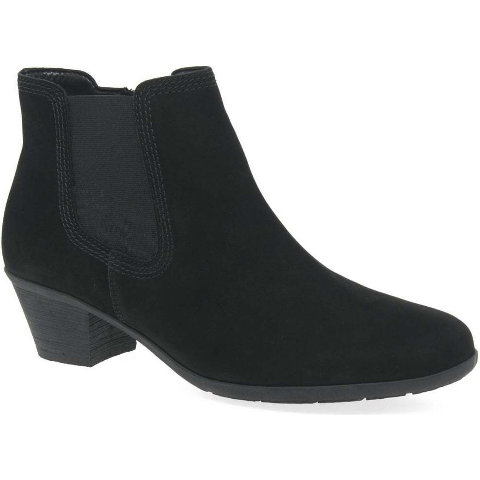 Gabor Hoy Colour: Womens Casual Chelsea Boots Colour: Hoy Black Nubuck, Size: 4.5 d4211e