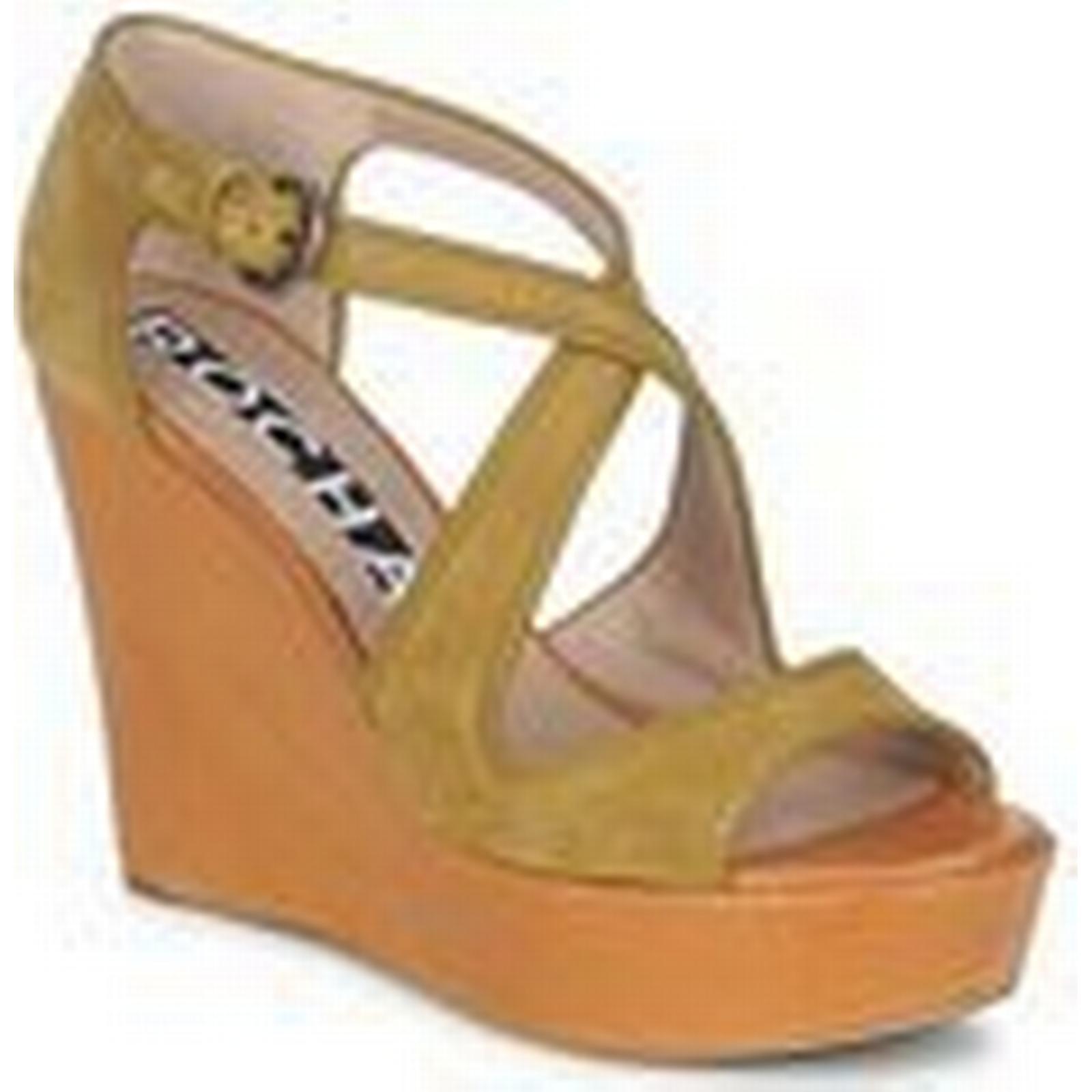 Rochas  RO18131  women's Sandals Brown in Brown Sandals 67e641