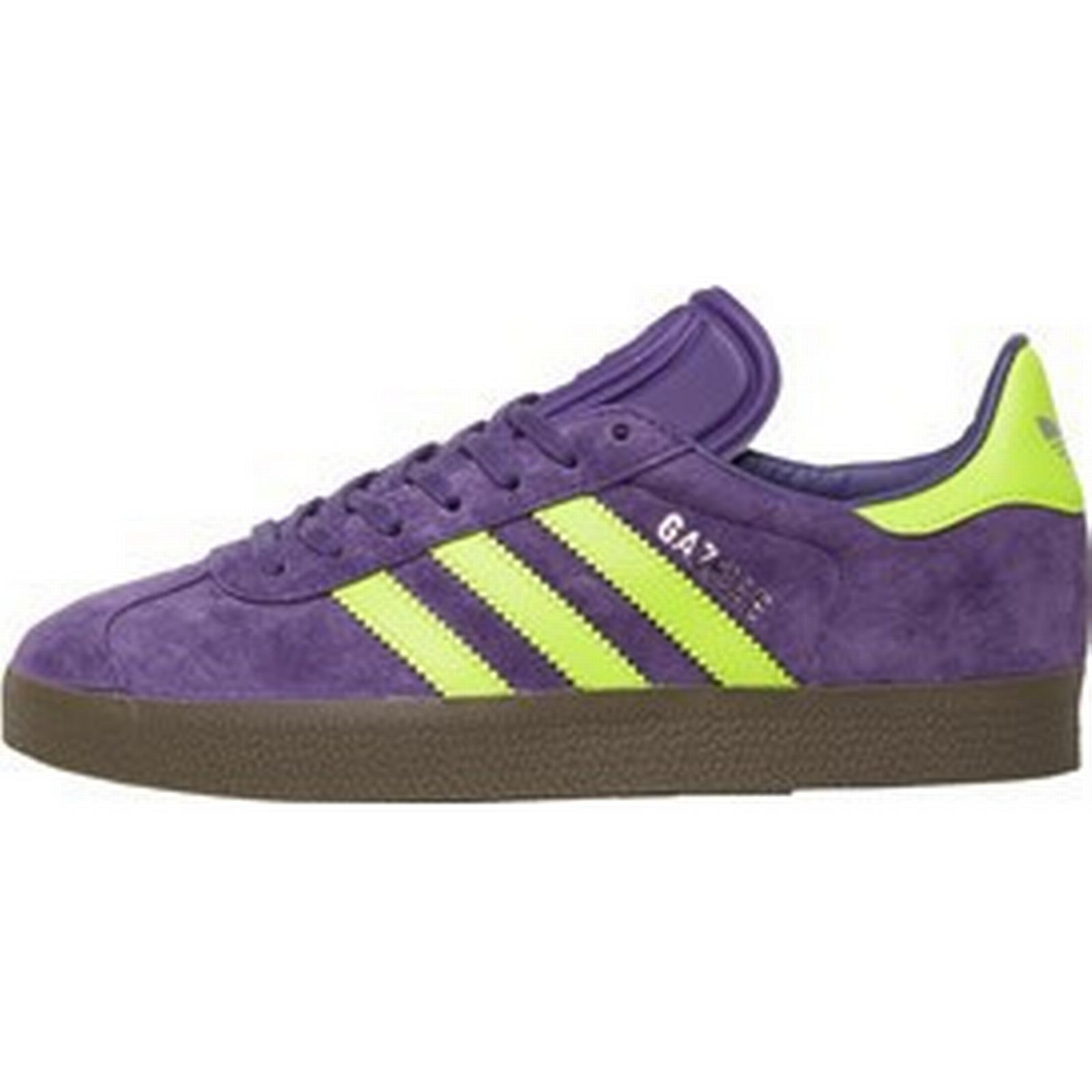 Adidas Originals Mens Gazelle Unity Trainers Unity Gazelle Purple/Solar Yellow/Gum5 26578c