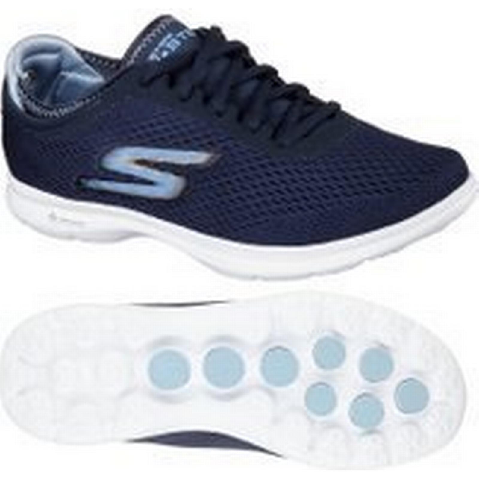 sketchers va pas sport mesdames les chaussures d'athlétisme blanc, aw - marine et blanc, d'athlétisme , royaume - uni e8f283