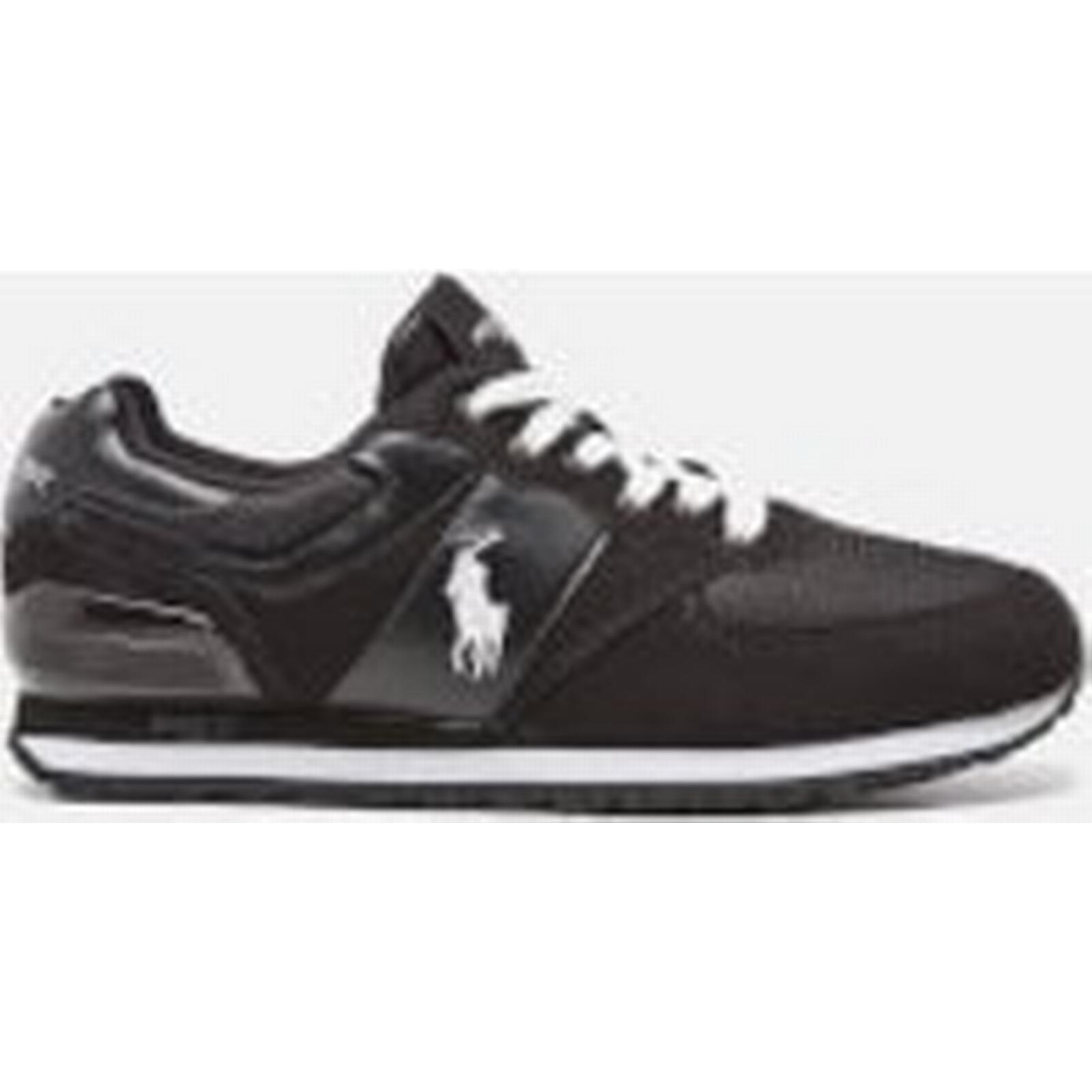 Polo Pony Ralph Lauren Men's Slaton Pony Polo Runner Trainers - Black/White - UK 9 - Black c16595