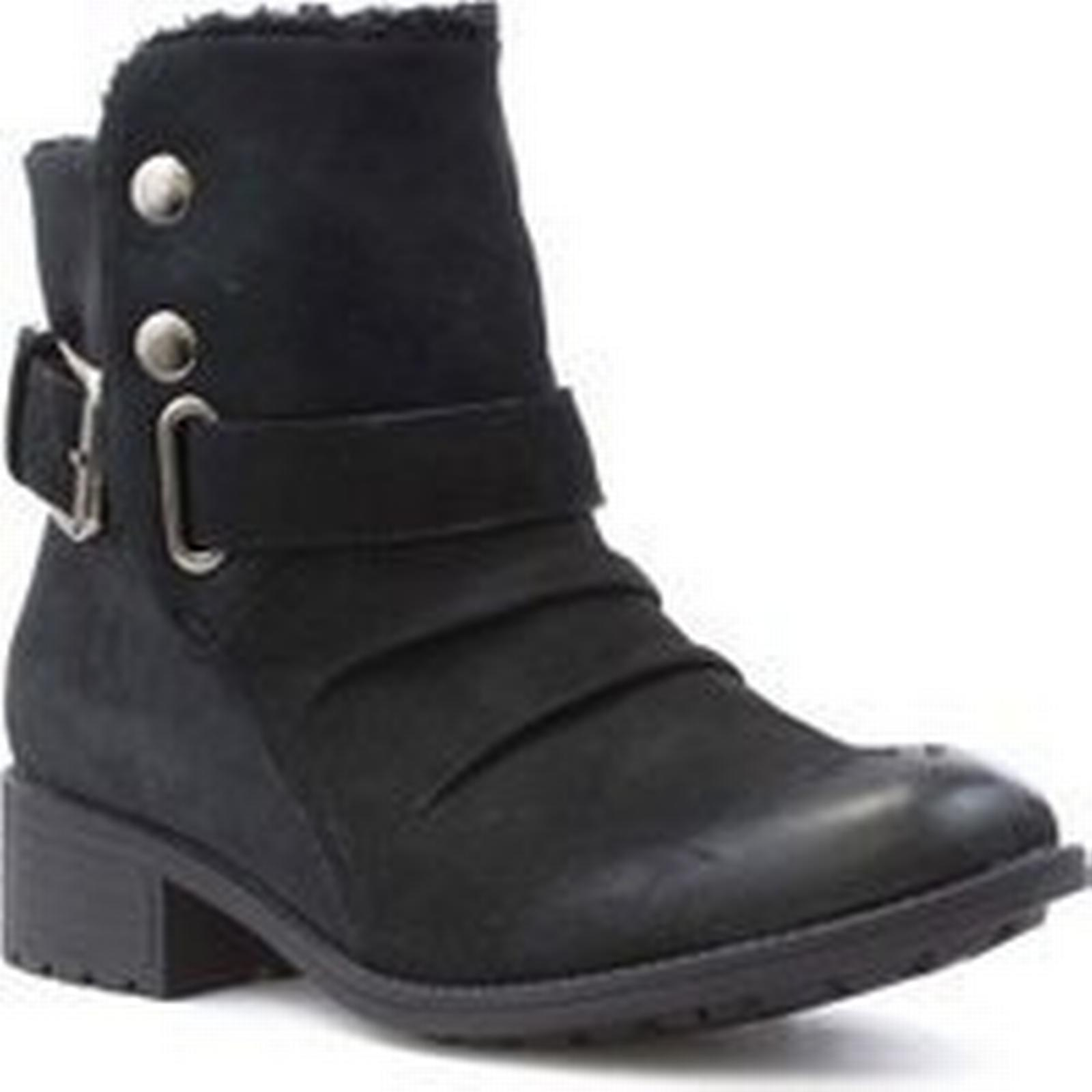 Earth Ankle Spirit Womens Black Suede Ankle Earth Boot 1fca26