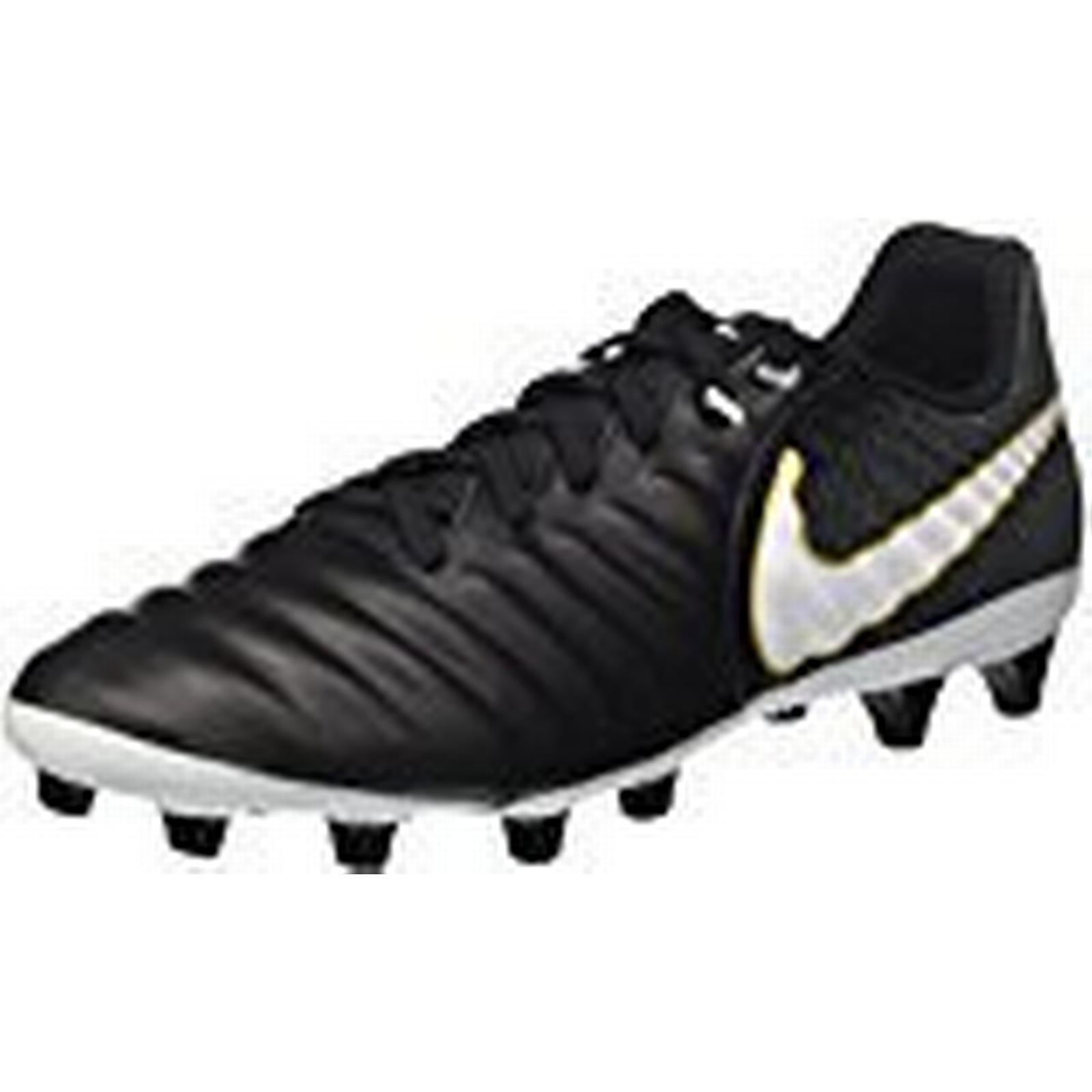 Nike Men's Tiempo Ligera Iv Ag-Pro Football Boots UK White/Black/Metallic Vivid Gold, 7 UK Boots 784045