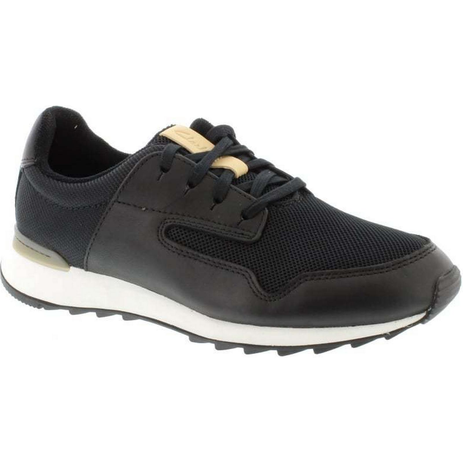 Clarks Black Floura Mix - Black Clarks Leather Size: 8 UK dbb516