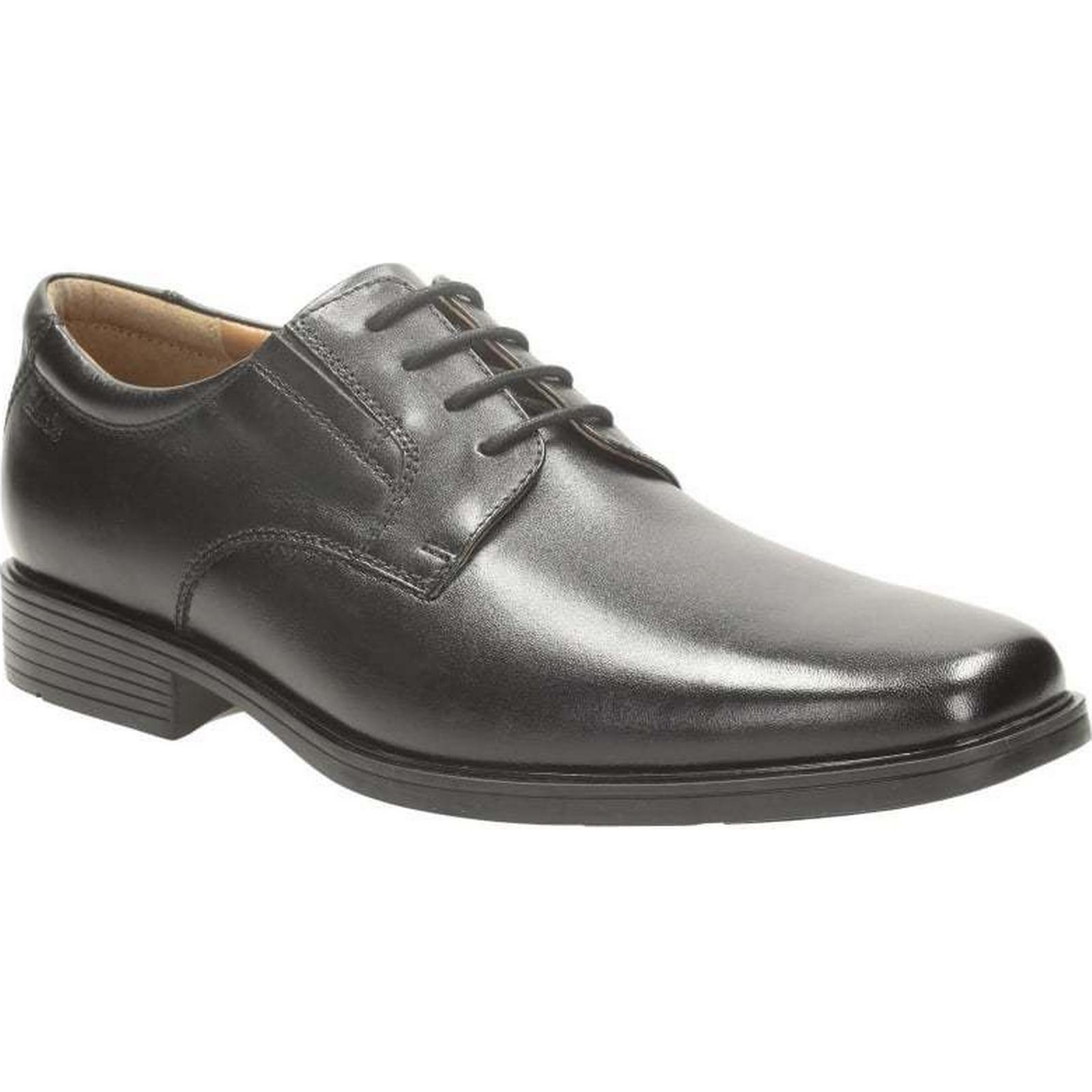 Clarks Tilden Plain - Size: Black Leather Size: - 7 UK d2862d